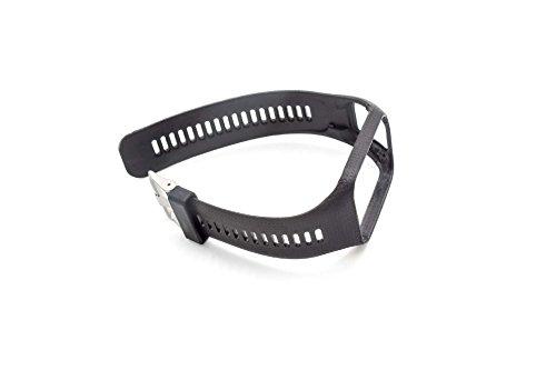 vhbw TPE Ersatz Armband 24.5cm passend für Tomtom Adventure, Golfer 2, Runner 2, Runner 3, Spark, Spark 3 Fitness Uhr, Smart Watch - schwarz