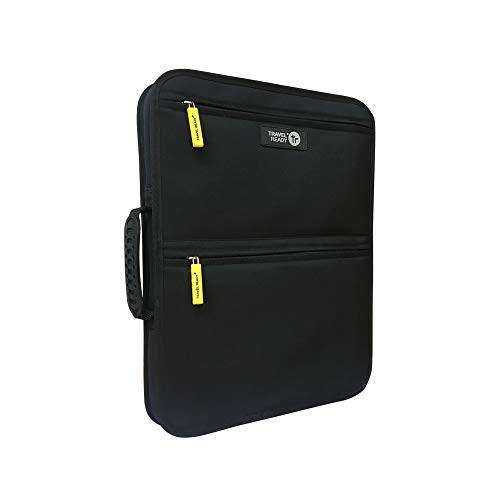 "Travel Ready Laptop Bag for Your Hardcase Carry On Luggage. Carry Essentials Including up to 14"" Laptop. Easily Straps on with Adjustable Belt to Your Cabin Bag"