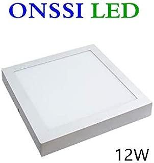 Plafón LED Cuadrado 12W 6000K Blanca Fria Superficie