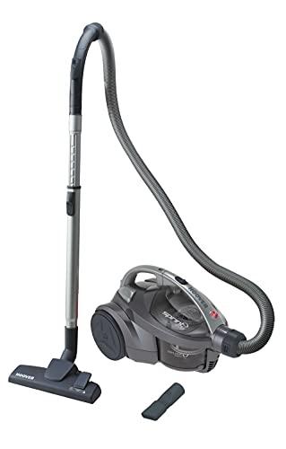 Hoover Sprint Evo SE41 Aspiradora sin Bolsa de Trineo, All Floors, Cepillo suelos duros y alfombras, Accesorio 2en1, Depósito 1,5 L, Diseño Compacto, Ciclónico, 700W, Filtros EPA, 80dba, Cable 5m