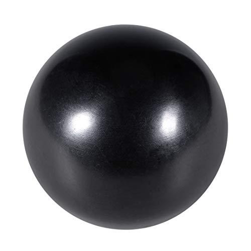 uxcell 5 Pcs Thermoset Ball Knob M10 Female Thread Machine Handle 40mm Diameter Smooth Rim Black