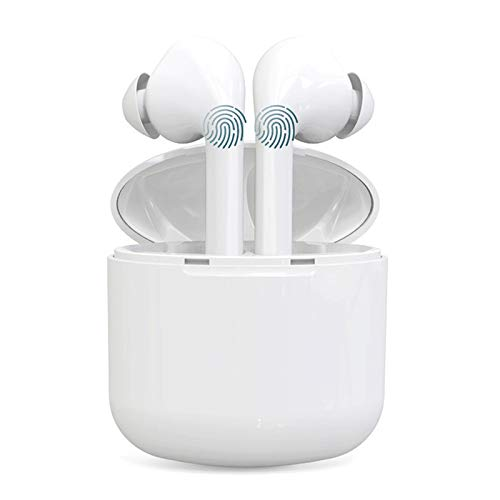 Wireless Earbuds, IEhotti Hi-Fi Stereo Bluetooth Headphones, Bluetooth 5.0 True Wireless Earbuds, in-Ear Headphones with Mic, IPX5 Waterproof Earphones for Working/Travel/Gym, White [Upgrade]