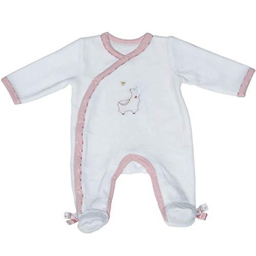 Pyjama bébé blanc 1 mois Mila - Sauthon
