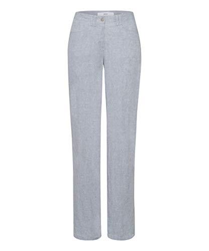 BRAX Style Farina Pantaloni, Grey Melange, 46W-32L Donna