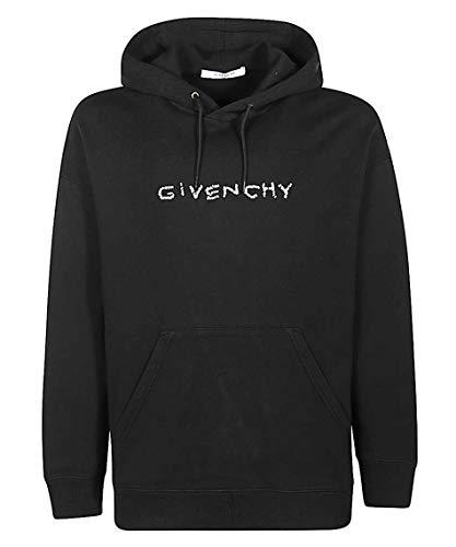 Givenchy Herren-Sweatshirt mit Kapuze und Assimetrischem Logo, Schwarz XL
