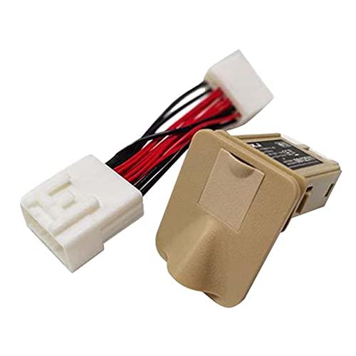 DIDILI Asientos Traseros de Coche Adaptador USB Cargador QC 3.0 Toma de Carga RáPida para Alphard Vellfire 30 Series 2015-2020, Beige