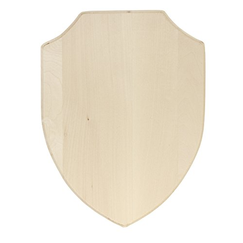 Walnut Hollow 41906 Basswood Simple Shield Plaque for Woodburning and Coats of Arms, 9 x 12 x 0.75, Wood