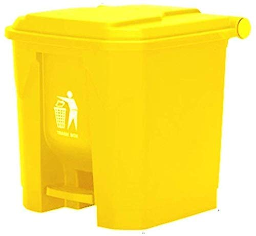 ZXYY prullenbak voor thuis, pedaaltype 30 liter, vuilnisbak voor buiten, Street CleanBox collectie van vuilnisemmers met verdikte kunststof deksel (kleur: C, maat: 30 l) 30l-c