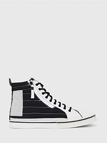 Diesel D-Velows MID Patch Sneaker Herren Weiss - 46 - Sneaker High