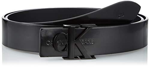 Calvin Klein Logo SM Lth 30MM Set di Accessori Invernali, Nero, 90 cm Donna