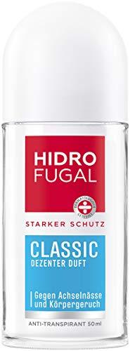 Hidrofugal Classic Roll-on (50 ml), starker Anti-Transpirant Schutz mit dezentem Duft, Deo für zuverlässigen Schutz ohne Ethylalkohol