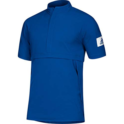 adidas Game Mode Quarter-Zip Polo - Men's Training XL Collegiate Royal/White