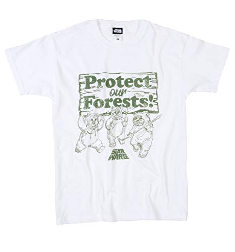 White Protect Our Forests Star Wars Ewoks T Shirt
