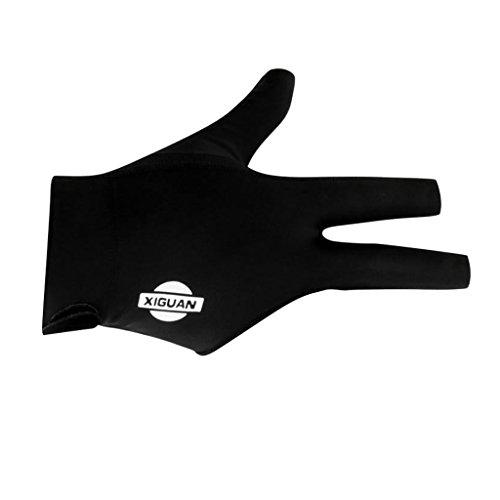 Billard Handschuh 3 Finger Pool Billiard Glove für Rechts Hand - Schwarz