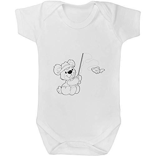 6-12 Monate 'Teddybär Angeln' Baby Body Unisex (GR00000500)