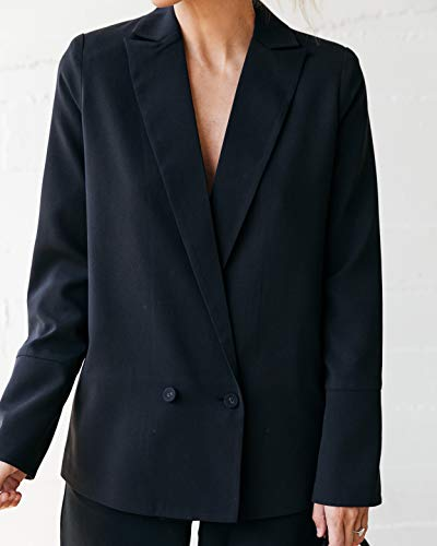 The Drop Women's Black Lined Crossover Blazer by @jaceyduprie