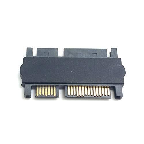 CY 3,5 Zoll & 2,5 Zoll SATA 22-Pin 7+15 Stecker auf SATA 22P 7+15 Stecker Verlängerung Konverter gerade Adapter