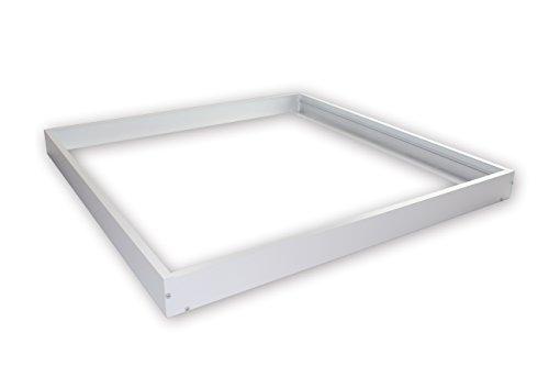 Linnuo® Aluminium Aufbaurahmen / Aufputz-Rahmen für LED Panel, 620x620mm, 62x62cm, Weiß (Aufbaurahmen 620x620) (620x620)