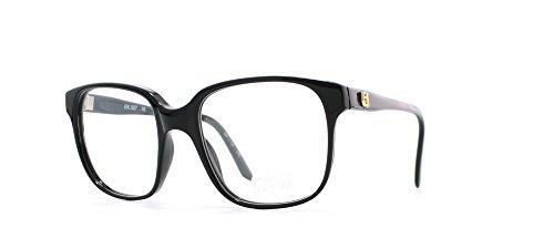 Emmanuelle Khanh 507 16 Damen Brillenfassung, quadratisch, zertifiziert, Vintage-Stil, Schwarz