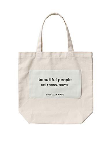 beautiful people ビューティフルピープル直営店限定 ネームトート ロゴ トートバッグ (エクリュ)