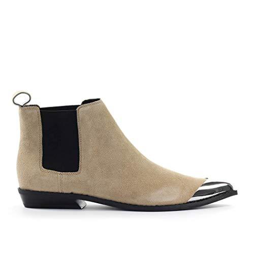 Zapatos de Mujer Botín Chelsea Arthena Ante Beige Calvin Klein SS2020