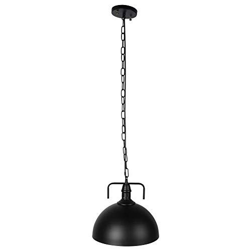 XINL Lámparas Colgantes, Lámpara Colgante, Industrial E27 / 26 LED Decorativo Vintage Exquisito Salón para Comedor(Black, 30cm)