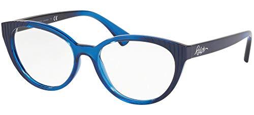 Ralph Lauren RALPH BY 0RA7109 Monturas de gafas, Blue Gr Horiz Dark Blue, 53 para Mujer