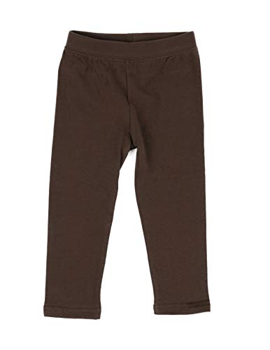 Leveret Girls Legging Cotton Ankle Length Kids & Toddler Pants Brown (10 Years)