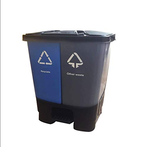 Bote de Basura Clasificado al Aire Libre Comercial del Hotel del Bote de Basura de la Capacidad Grande con el Bote de Basura plástico Doble del Barril de la Cubierta Bote de Basura Humano Simple
