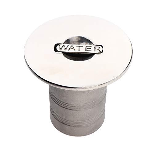 perfk Däck för fyllning och fyllning av båtdäcket med snabbförslutning 2 tum (50 mm) av 316 rostfritt stål – silvervatten