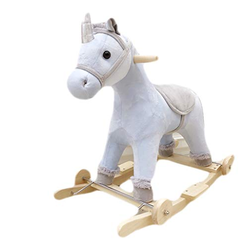 Find Discount Rocking horse ZJING Trojan with Music Rocking Cradles, Early Childhood Education, Educ...