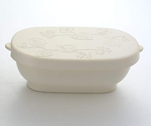 ナカシマ おひつ ホワイト 約長径20.5×短径11.5×最大幅24.0×高7.8㎝ 国産耐熱セラミック製スリムおひつ(1.5合タイプ)ホワイト