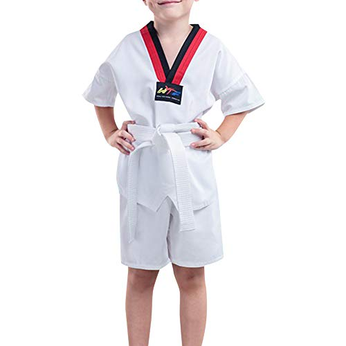 Daytwork Kampfsport Bekleidung Unisex Kinder Erwachsene Dobok Taekwondo Gi Sets - Judo Anzug Kung Fu Training Wettkampf Leistung Uniform Outfit Karate Baumwolle