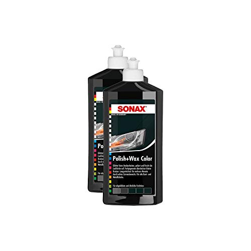 SONAX 2X 02961000 Polish & Wax Color NanoPro schwarz Autopolitur Wachs 500ml