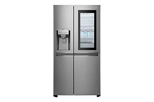 LG GSI960PZAZ koelkast met zijdeur, roestvrij staal, 601 l, A++ - Side-by-Side koelkast (roestvrij staal, Amerikaanse deur, LED, R600a, glas/kunststof)