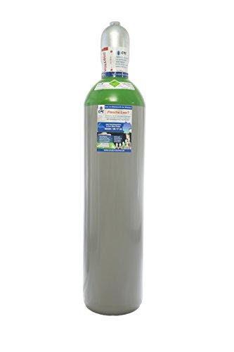 Argon 4.8 20 Liter Flasche/NEUE Gasflasche (Eigentumsflasche), gefüllt mit Argon 4.8 (Reinheit 99,9998%) / 10 Jahre TÜV ab Herstelldatum/EU Zulassung/PROFI-Schweißargon WIG,MIG - made in EU