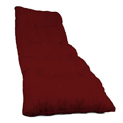 Dabuty Online, S.L. Pack de 2 Colchones Tumbona Acolchada de Rayas 180 x 55 X 8 cm Texturas Rojo, Verde, Amarillo, Azul (Liso Rojo)