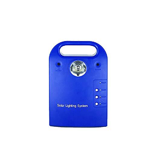 Solar Not-Energiesparlampe Outdoor-Camp Zelt Tragbare Mobile Solar-Photovoltaik-Beleuchtung Dreistufig Einstellbares System,Blue