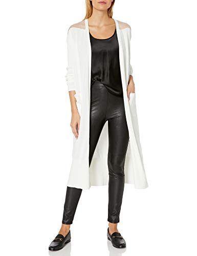 Armani Exchange AX Damen Knee Length Cardigan with Exposed Shoulders Cardiganpullover, Martini, X-Groß