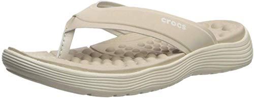 Crocs Women's Reviva Flip Flop, 10 M US, Cobblestone/Stu