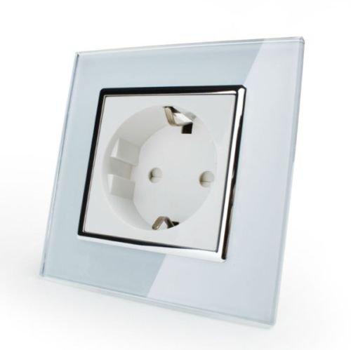 Luxus-Lamp Steckdose Glas Weiß VL-71EU-51
