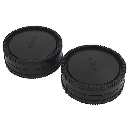 HomyWord 2 PACK Tapa del cuerpo y cámara Tapa trasera para Sony E-Mount NEX Sin espejo Sony Alpha A6500 A6300 a6000 a5100 a5000 a3000 A7R2 A7S2 A7S A7R A7 A7II NEX-7 NEX-6 / 5T / 5R / 5N / 5C / F3