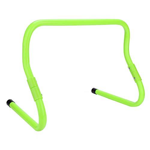 Pwshymi Vallas de Entrenamiento de Velocidad de fútbol con Vallas Altura Ajustable 15/30 cm Accesorio de Entrenamiento de Agilidad de Velocidad de fútbol(Verde)