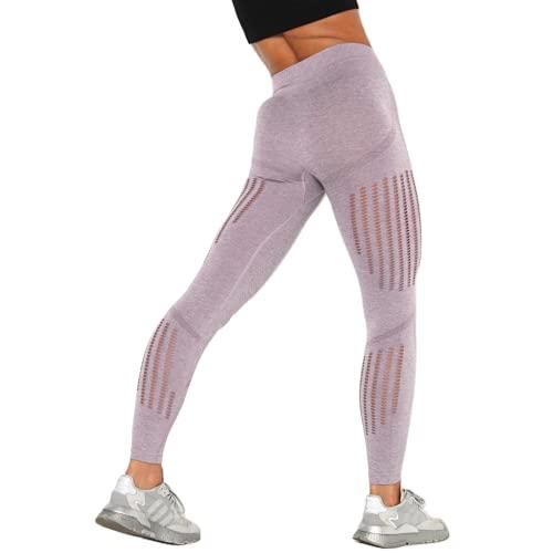 QTJY Pantalones de Yoga Suaves de Gimnasio de Cintura Alta, Pantalones Deportivos Delgados de Moda para Mujer, Leggings con Push-ups, Pantalones Deportivos Casuales para Correr GM