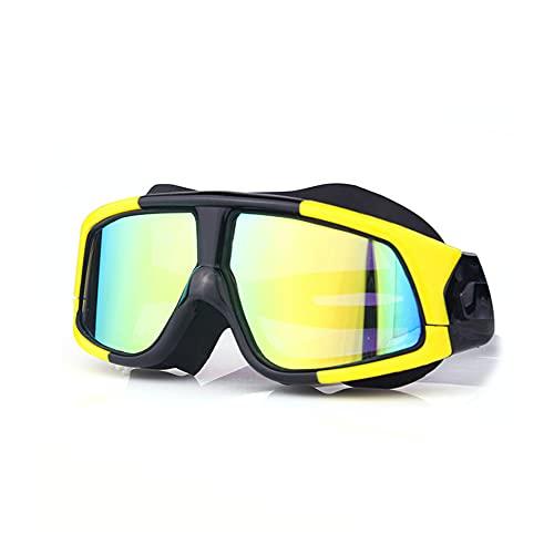 Warmdeco Gafas de natación con Montura Grande, Lentes HD, Impermeables, antiniebla, miopía, miopía, Gafas de natación para Nadar, Surf, Kayak