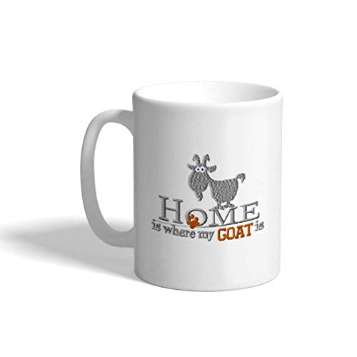 Aangepaste koffiemok 11 Oz Home is waar mijn geit keramische theekop thee of koffie mok