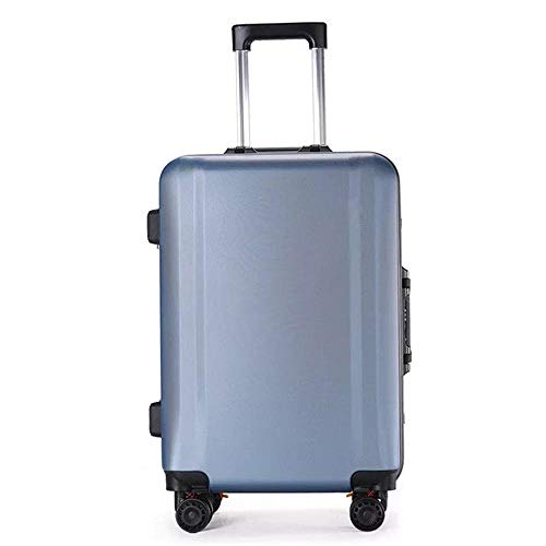 SFBBBO luggage suitcase Fashion rolling luggage brand carry on case men travel suitcase women trolley luggage 22' Lightblue
