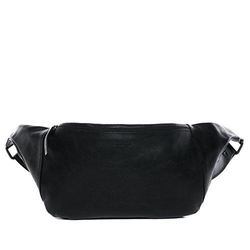 Preisvergleich Produktbild FEYNSINN Hüfttasche echt Leder Milla Bauchtasche aus Leder Bumbag Ledertasche Unisex schwarz