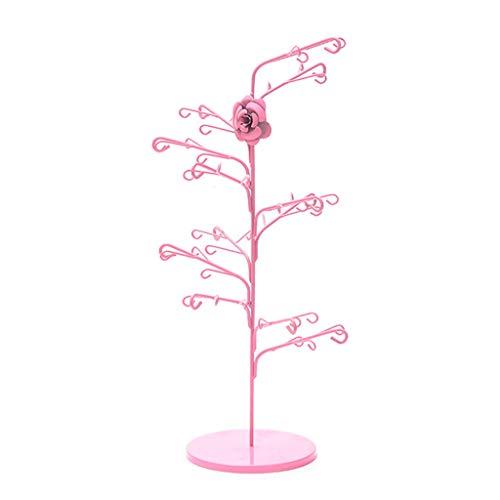 Jinxin-Box Schmiedeeisen Pfingstrose Blume Schmuck Ohrringe Halskette Anhänger Rack Schmuck Ornamente Kleine Regale