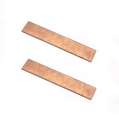 KINHARD CU Metal Varilla 105mm x 20mm x 3mm Barra de Cobre Puro, T2 Plana Barra de Cobre se puede utilizar para Procesamiento, Producción, Aficiones